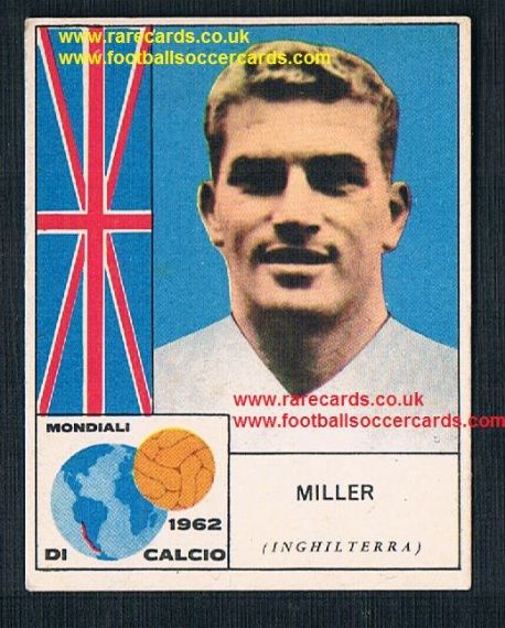 1962 Brian Miller Burnley England international gum card by Mira